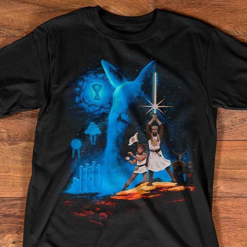 Grail Wars T Shirt Monty Python And The Holy Grail Star Wars Fan Gift Black T Shirt Men And Women S-6XL Cotton