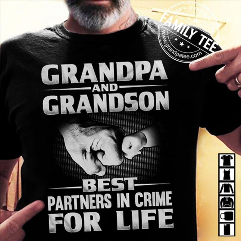 Grandma And Grandson Best Partners In Crime For Life  T-shirt Black B1
