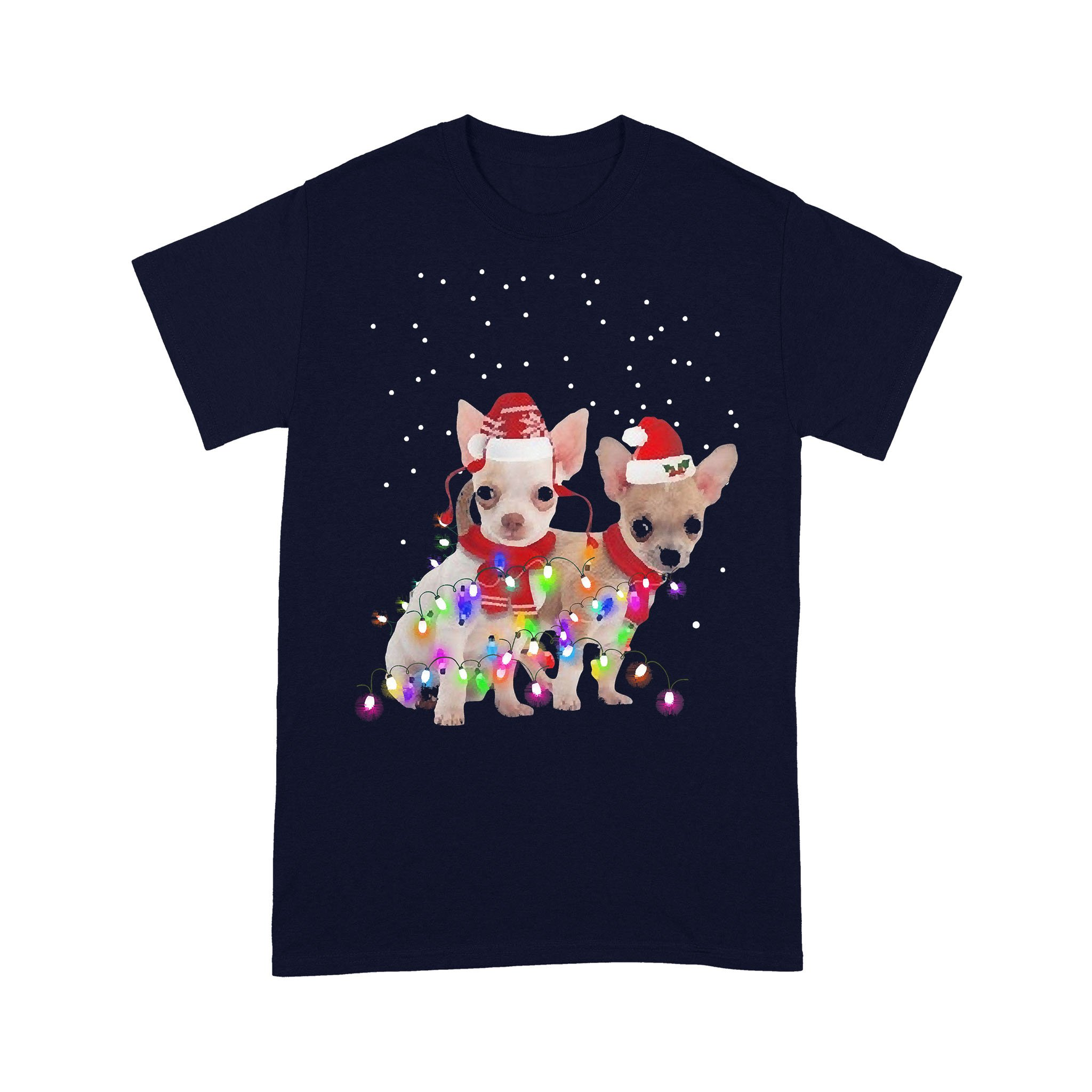 Graphic Chihuahua Xmas Lights 2020 T-shirt