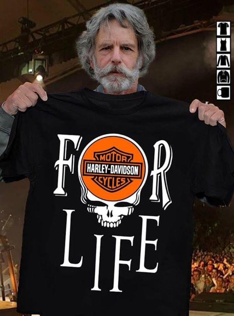 Grateful Dead Harley Davidson For Life Black T Shirt Men/ Woman S-6XL Cotton