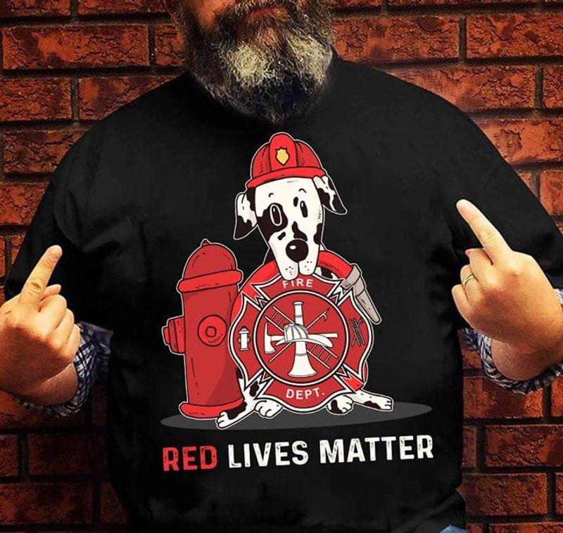 Great Dane Lovers Red Lives Matter Black T Shirt Men/ Woman S-6XL Cotton
