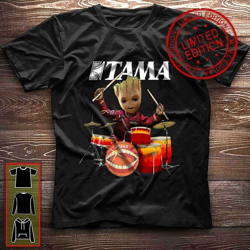 Groot Drummer And Meinl Percussion T Shirt Black S-6XL Men And Women Clothing