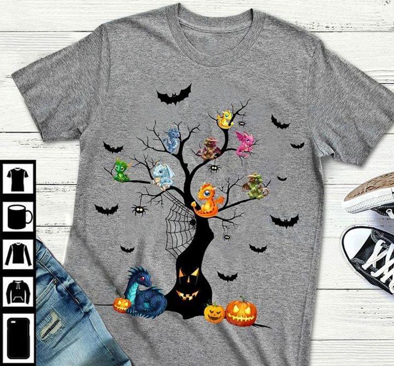 Happy Halloween Lovely Dragon T-Shirt Funny Halloween Gift Sport Grey T Shirt Men And Women S-6XL Cotton