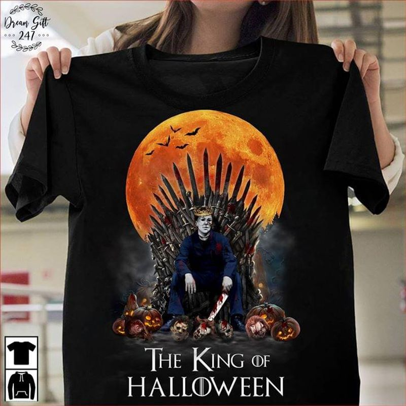 Happy Halloween Michael Myers The King Of Halloween T-shirt Halloween Gift Black Black T Shirt Men And Women S-6XL Cotton