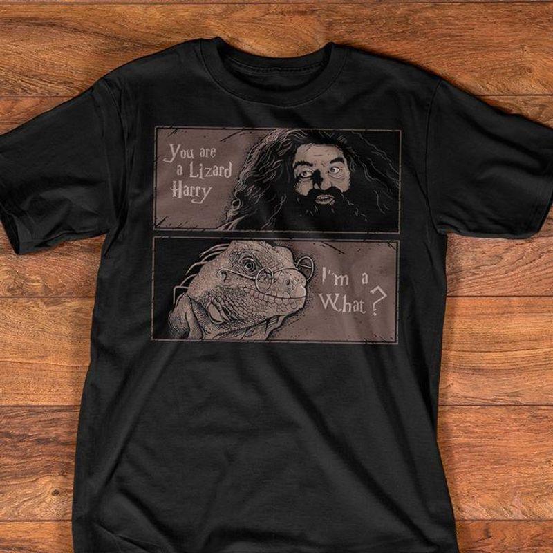 Harry Potter You Are A Lizard Harry I'M A What Hagrid & Lizard Meme Dark Heather T Shirt Men/ Woman S-6XL Cotton