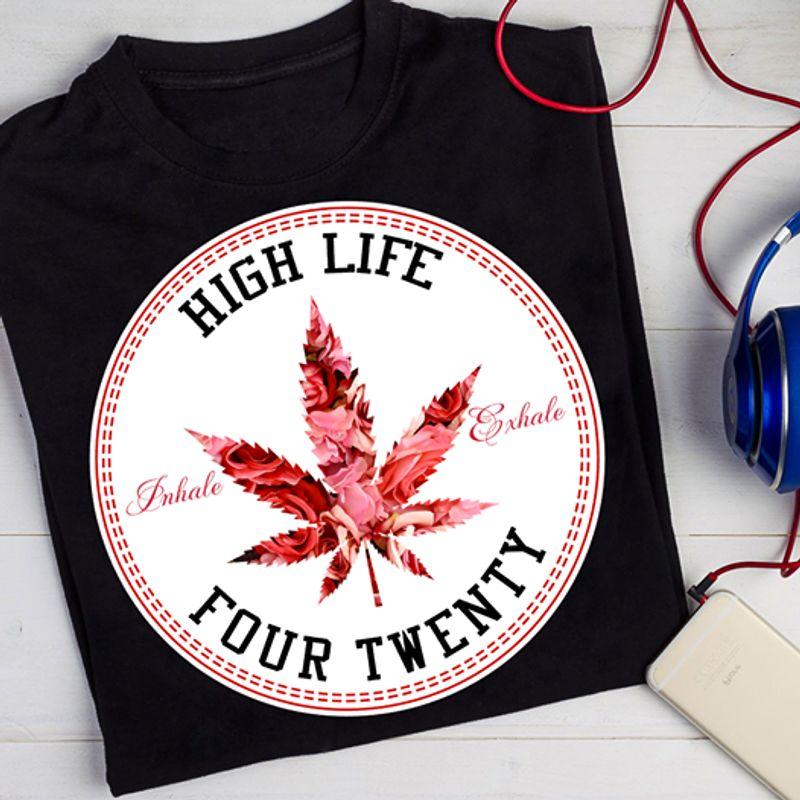 High Life Four Twenty Tshirt Black A2