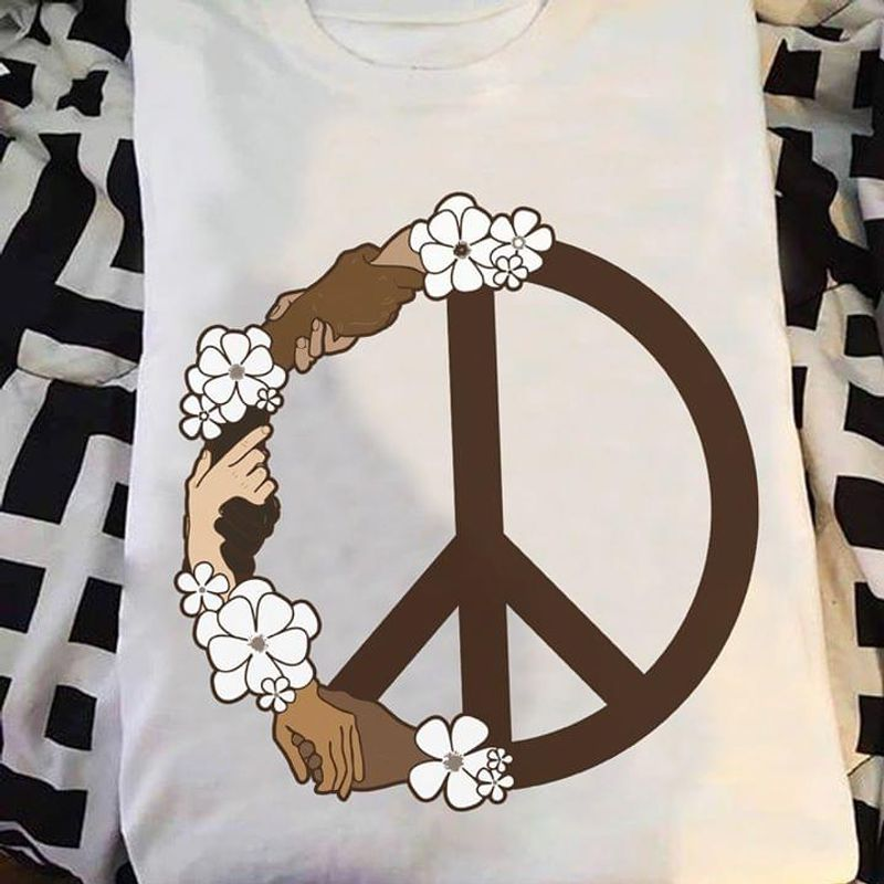 Hippie Equality And Peace T Shirt S-6XL Mens And Women Clothing