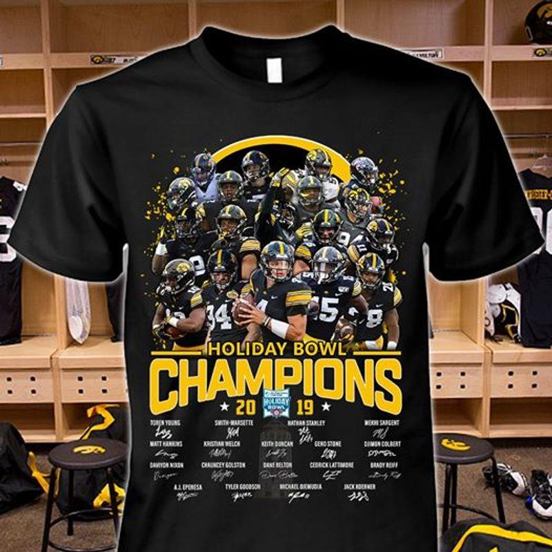 Holiday Bowl Champions 2019   T-shirt Black B1