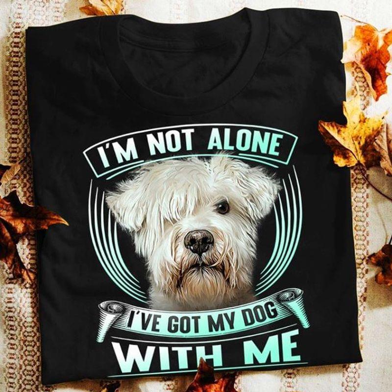 Hollandse Smoushond Cute Dog I'M Not Alone I'Ve Got My Dog With Me BlackT Shirt Men/ Woman S-6XL Cotton