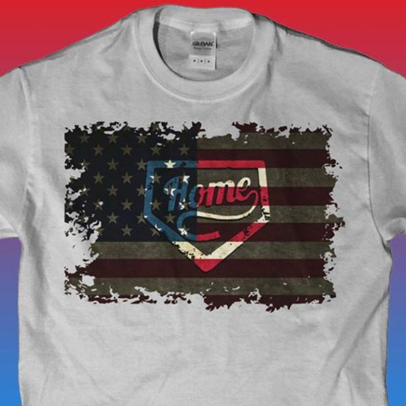 Home Flag T-Shirt Grey A8