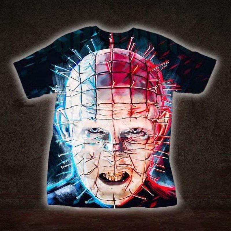 Horror Hellraiser Pinhead Shirt Horror Killer Halloween Gift Idea T Shirt Print All Over Unisex  Full Size S-5XL