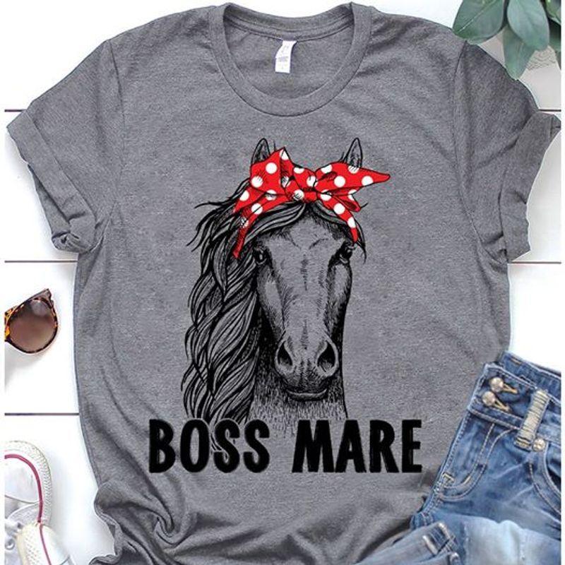 Horse Boss Mare T-Shirt Grey