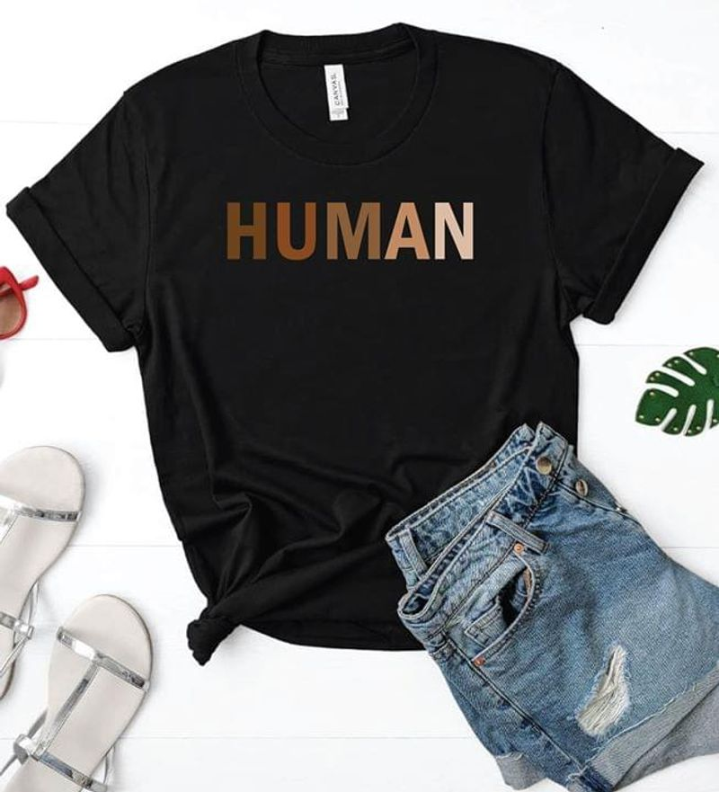 Human Black Lives Matter Justice Africa America Black T Shirt Men/ Woman S-6XL Cotton