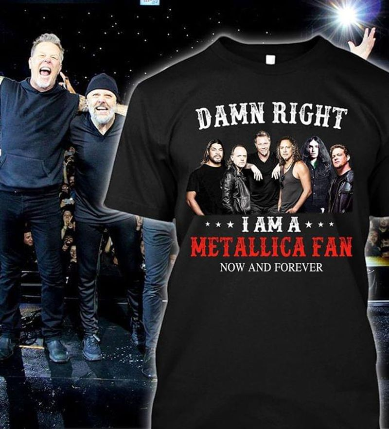 I Am A Metaiiica Fan Now And Forever T-Shirt Metaiiica Music Band Fans Black T Shirt Men And Women S-6XL Cotton