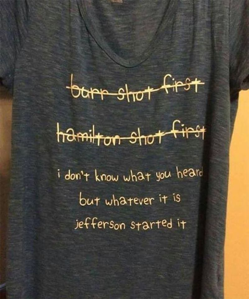 I Don'T Know What You Heard But Whatever It Is Jefferson Started It Dark Heather T Shirt Men And Women S-6XL Cotton