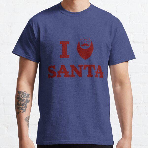 I Heart Santa ~ I Love Santa's Beard – Hipster Christmas Funny T-Shirt