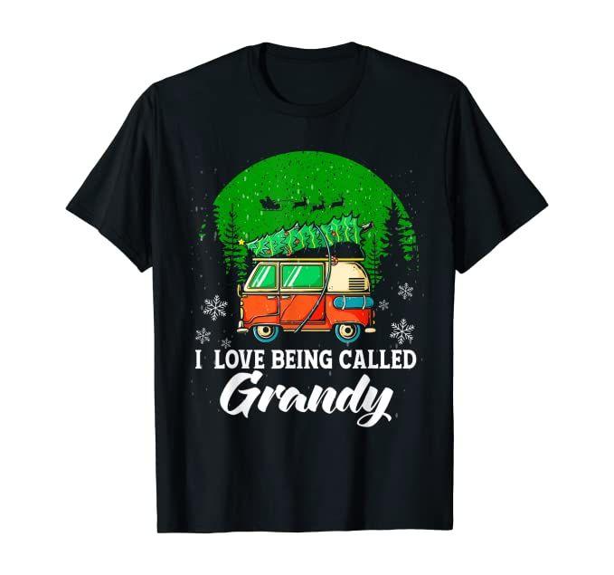 I Love Being Called Grandy Womens Gift Birthday Gift Idea T-Shirt