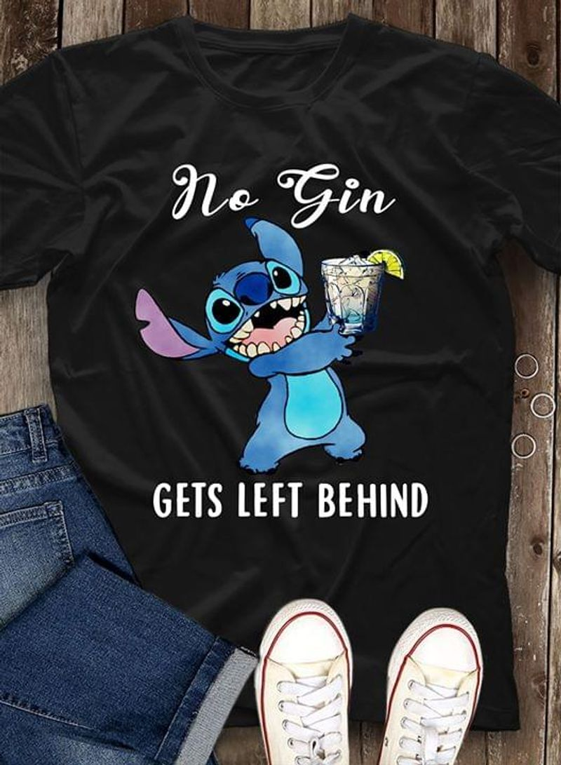 I Love Movie No Gin Gets Left Behind Wonderful Presents For Active Girls Black T Shirt Men/ Woman S-6XL Cotton