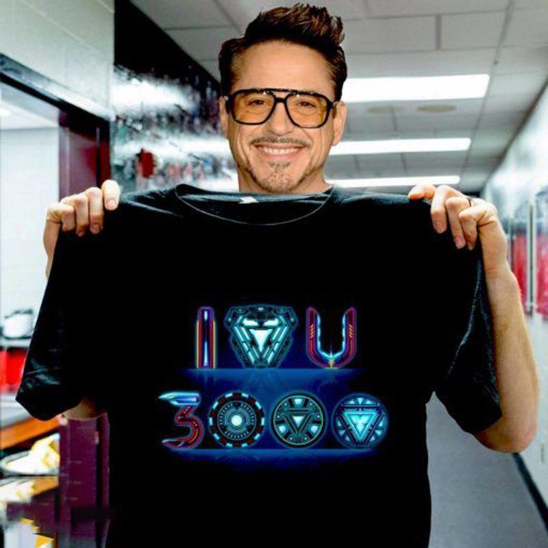 I Love You 3000 Ironman Style T-Shirt Black