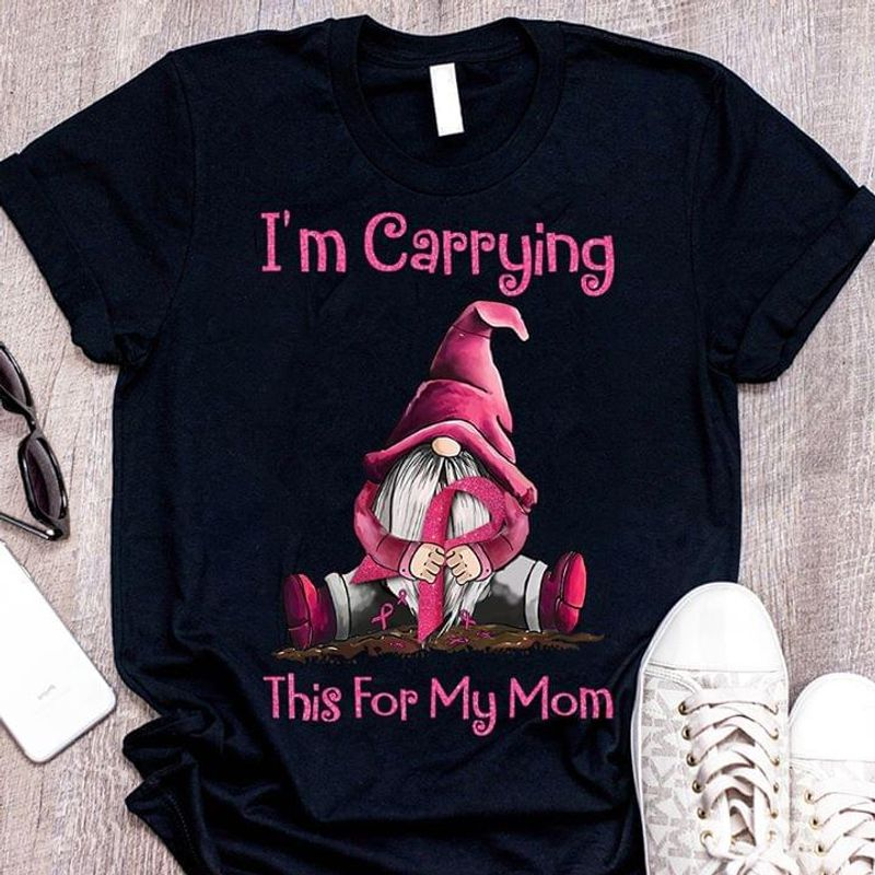 I'M Carrying This For My Mom Autism Awareness Black T Shirt Men And Women S-6XL Cotton