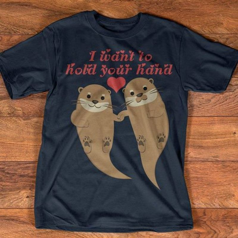 I Want To Hold Your Hand Seals T Shirt Black B5
