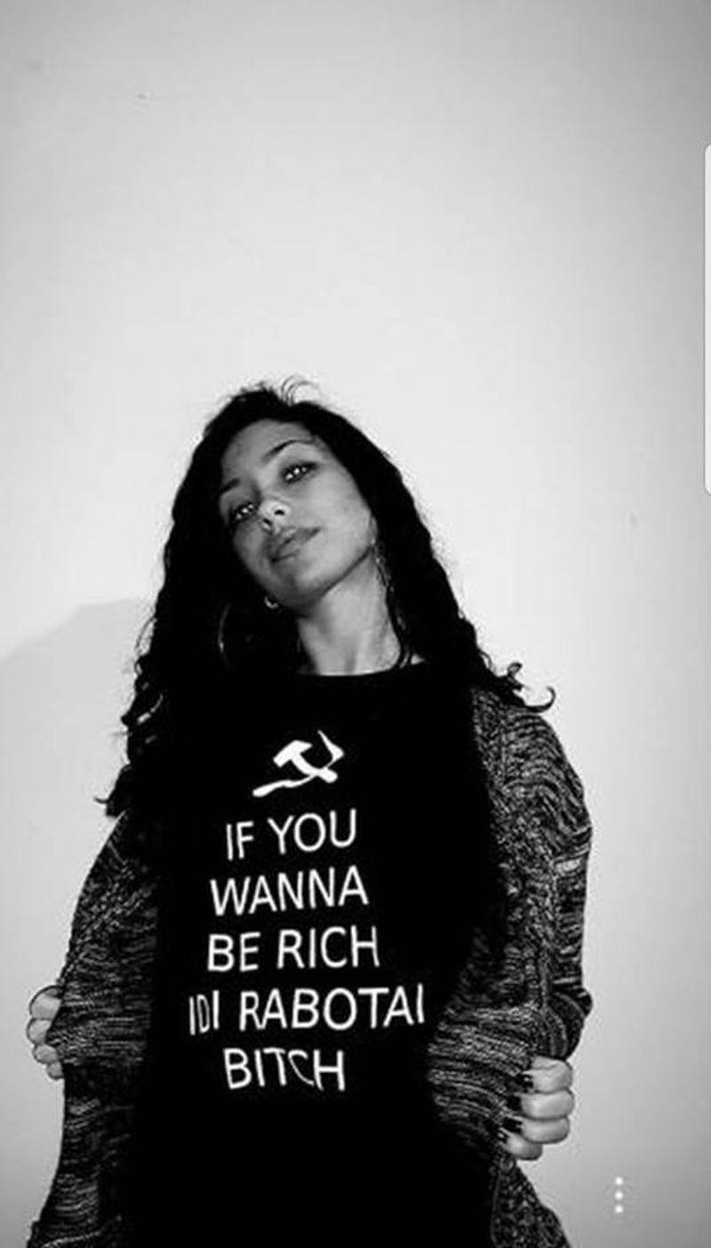 If You Wanna Be Rich Idi Rabotai Bitch T Shirt Black A3