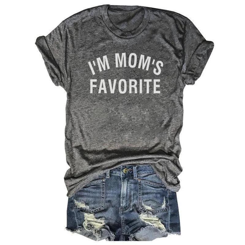 Im Mom's Favorite T-Shirt Grey A5
