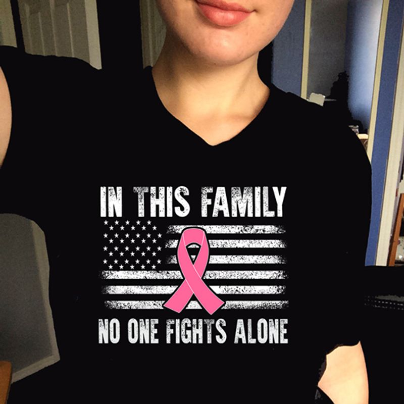 In This Family No One Fights Alone T Shirt Black A9