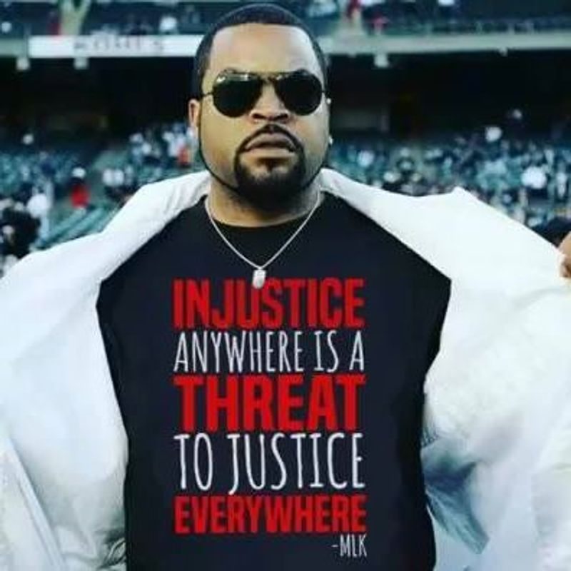 Injustice Anywhere Is A Threat T Shirt Black A1