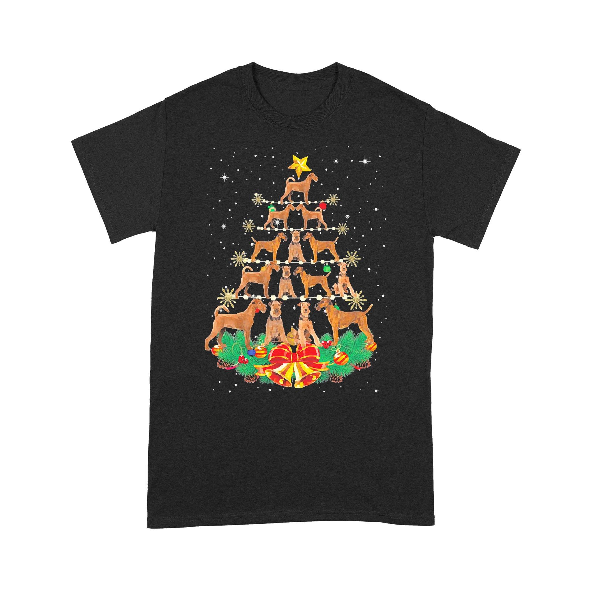 Irish Terrier Christmas Tree T-shirt