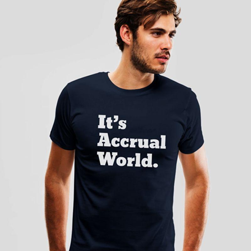 It S Accrual World   T-Shirt Black B5