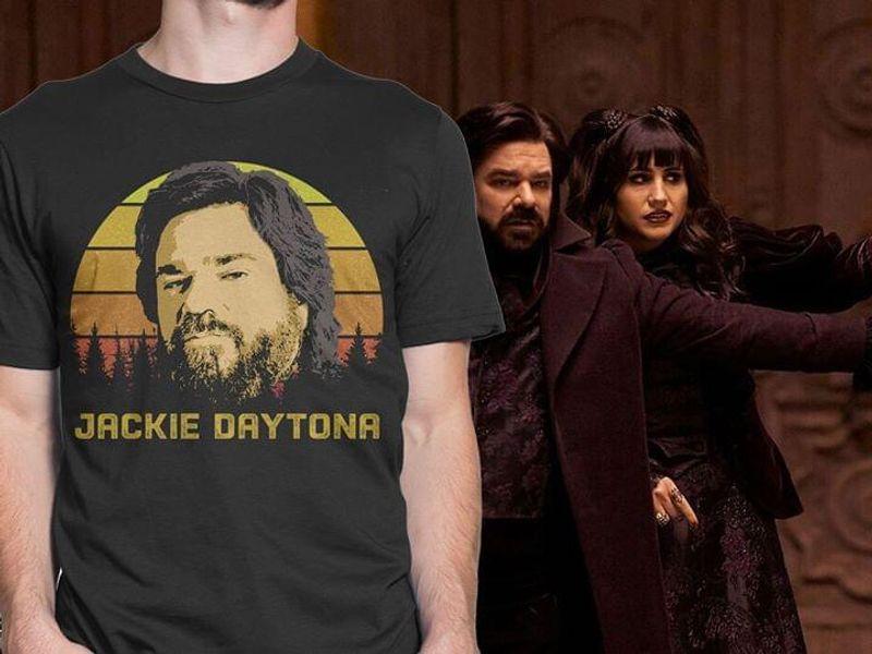 Jackie Daytona Vintage Retro Graphic Design Or Fans Music Lover Dark Heather T Shirt Men And Women S-6XL Cotton