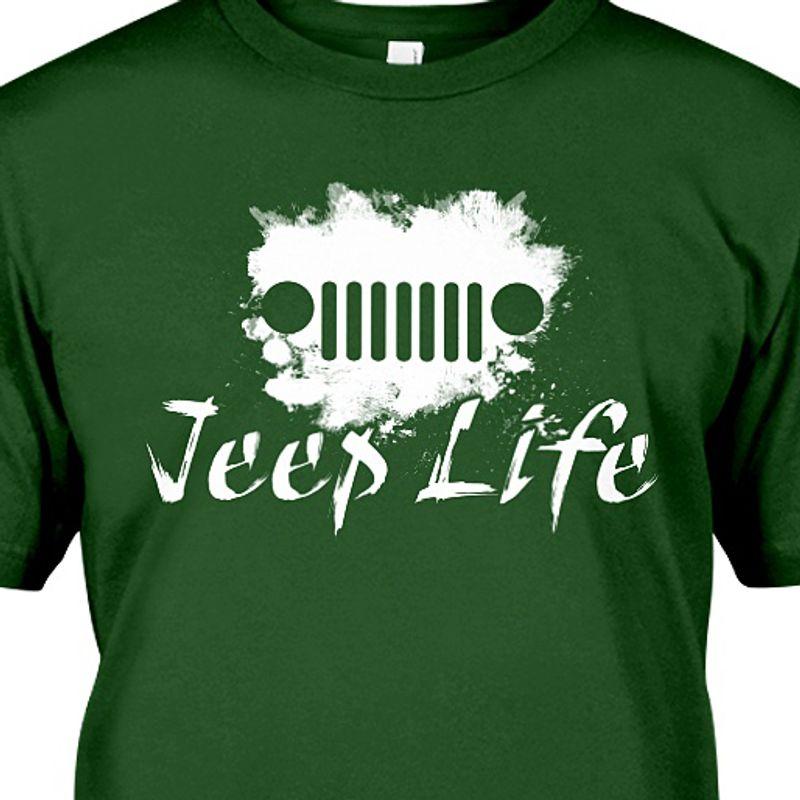 Jeep Life Truck T-shirt Green A5