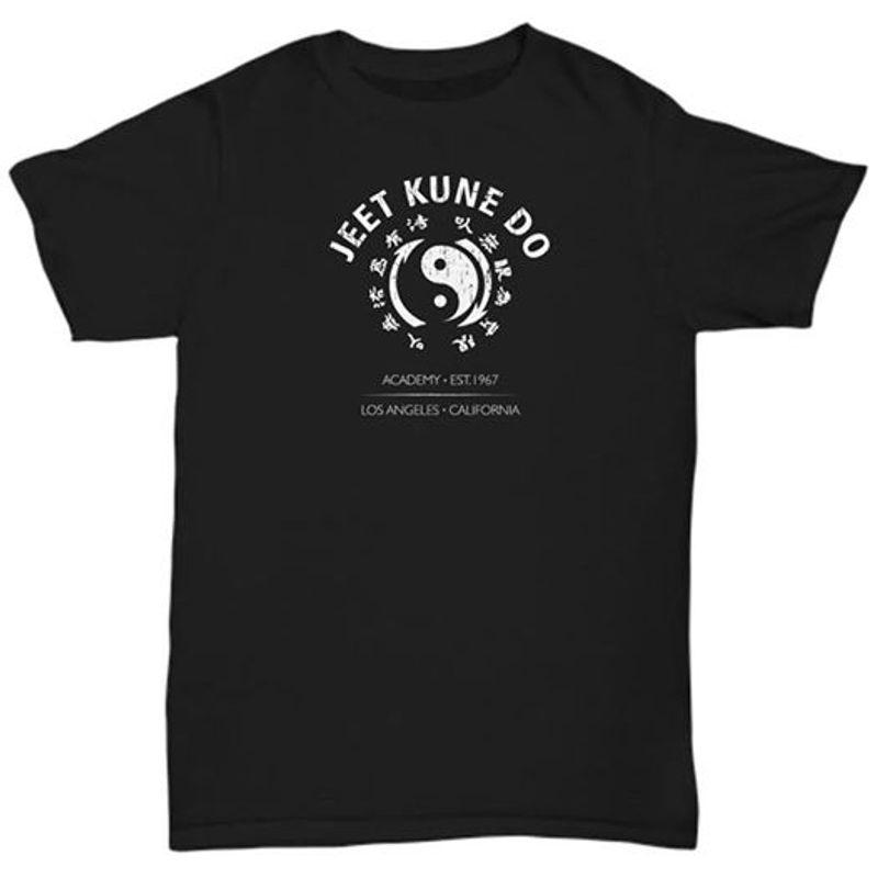 Jeet Kune Do Academy Est 1967 Los Angeles California T Shirt Black A8