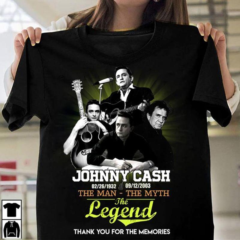 Johnny Cash Fan Gift The Man – The Myth The Legend Black T Shirt Men And Women S-6XL Cotton