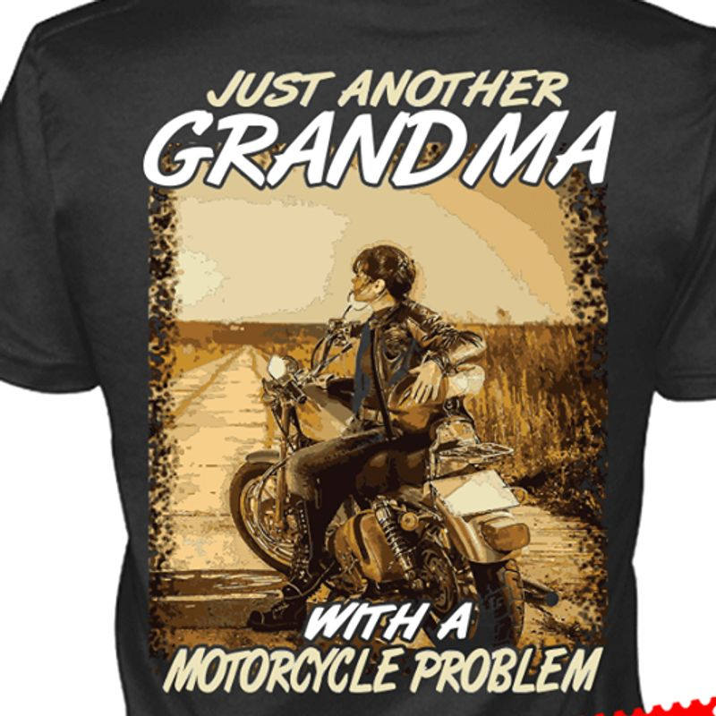 Just Another With A Motorcycle Problem T-shirt Black B1