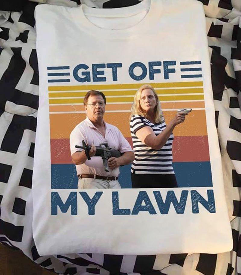 Ken And Karen Get Off My Lawn Republican Party Vintage White White T Shirt Men And Women S-6XL Cotton