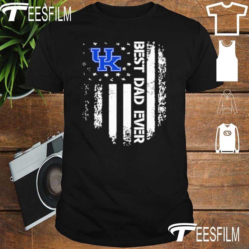 Kentucky Wildcats Best Dad Ever America Flag Shirt