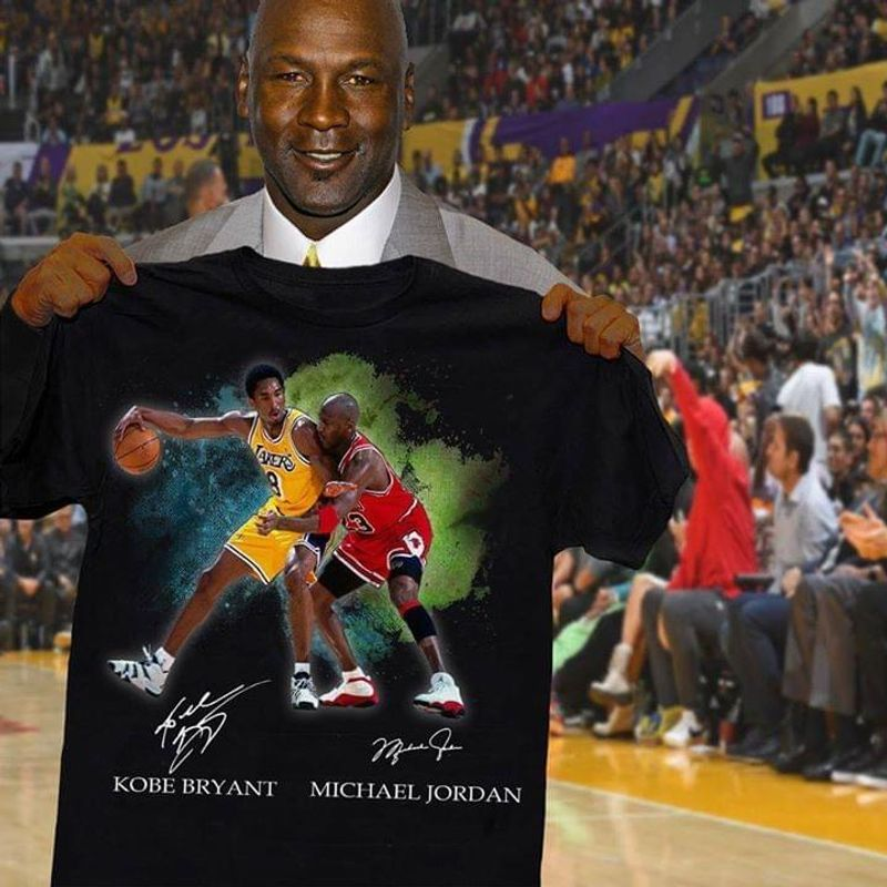 Kobe Bryant Vs Michael Jordan Signature T-shirt Black