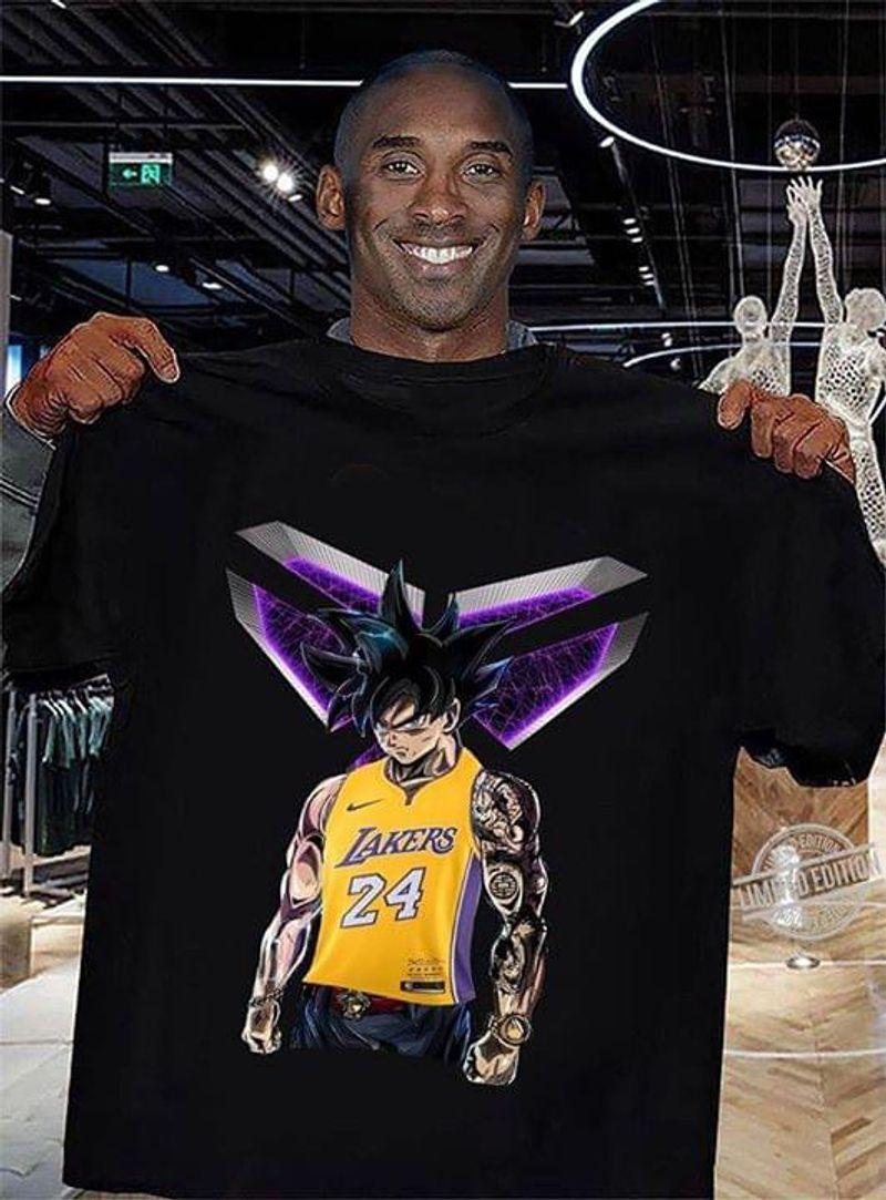 Kobe Bryant X Dragonball Goku Lakers 24 T-Shirt Black