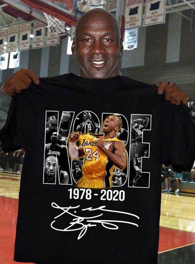 Kobe Jordan James 1978 2020 Black Cool Farewell Hero Black Basketball Black T Shirt Men And Women S-6XL Cotton