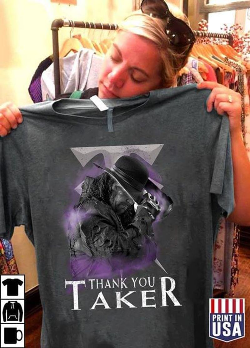 Legends Never Die Thank You Taker Gift For Film Lovers Dark Heather T Shirt Men And Women S-6XL Cotton