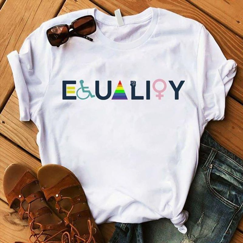Lgbt Equality Wear This To Support Lgbt Community For A Better Society White T Shirt Men/ Woman S-6XL Cotton Men_And