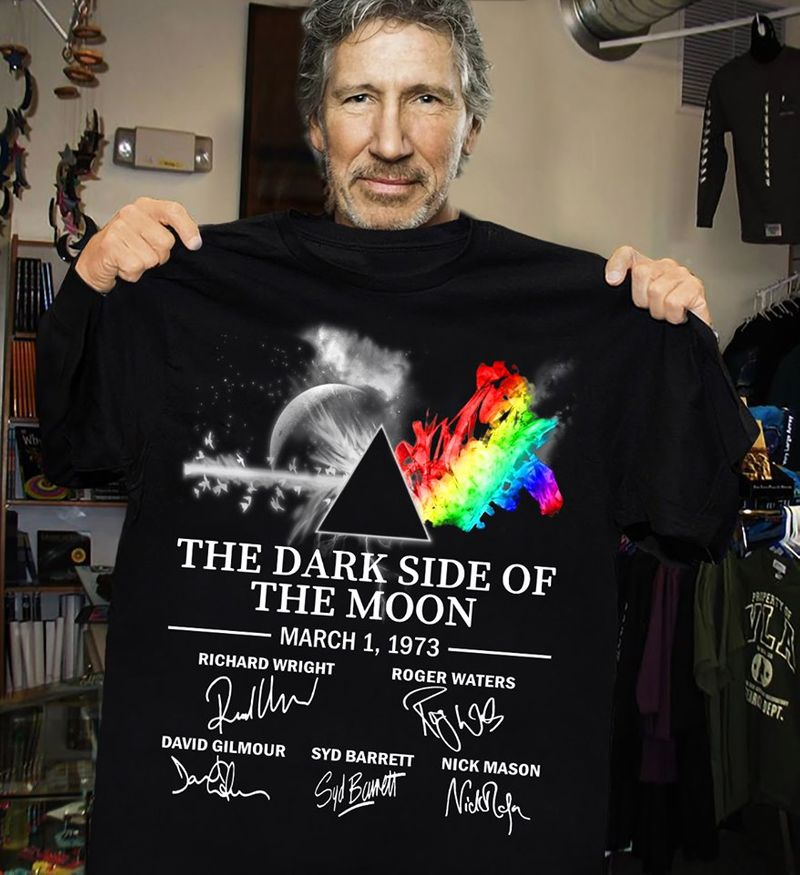 Lgbt The Dark Side Of The Moon March 1 1973 Signature  T Shirt Black A5