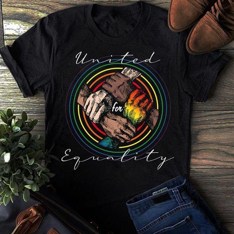 LGBT United Equality Black T Shirt Men/ Woman S-6XL Cotton