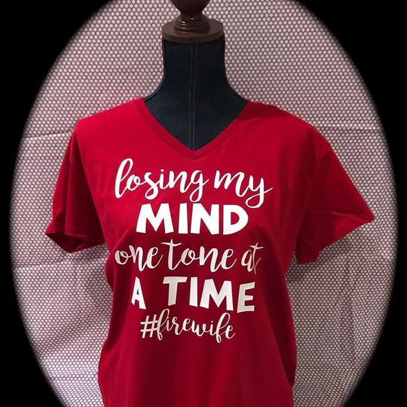 Losing My Mind One Tone At A Time Irewile   T-shirt Red B1