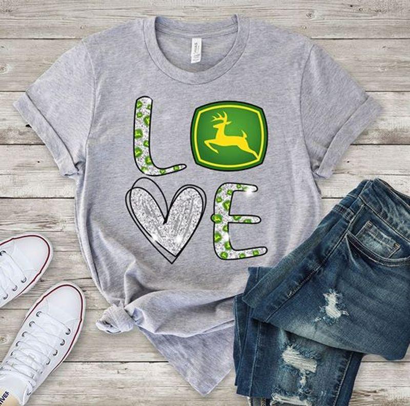 Love Deer  T-shirt Grey A5