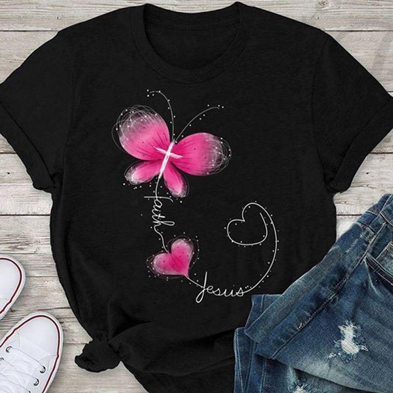 Love Faith Jesus    T-shirt Black B1