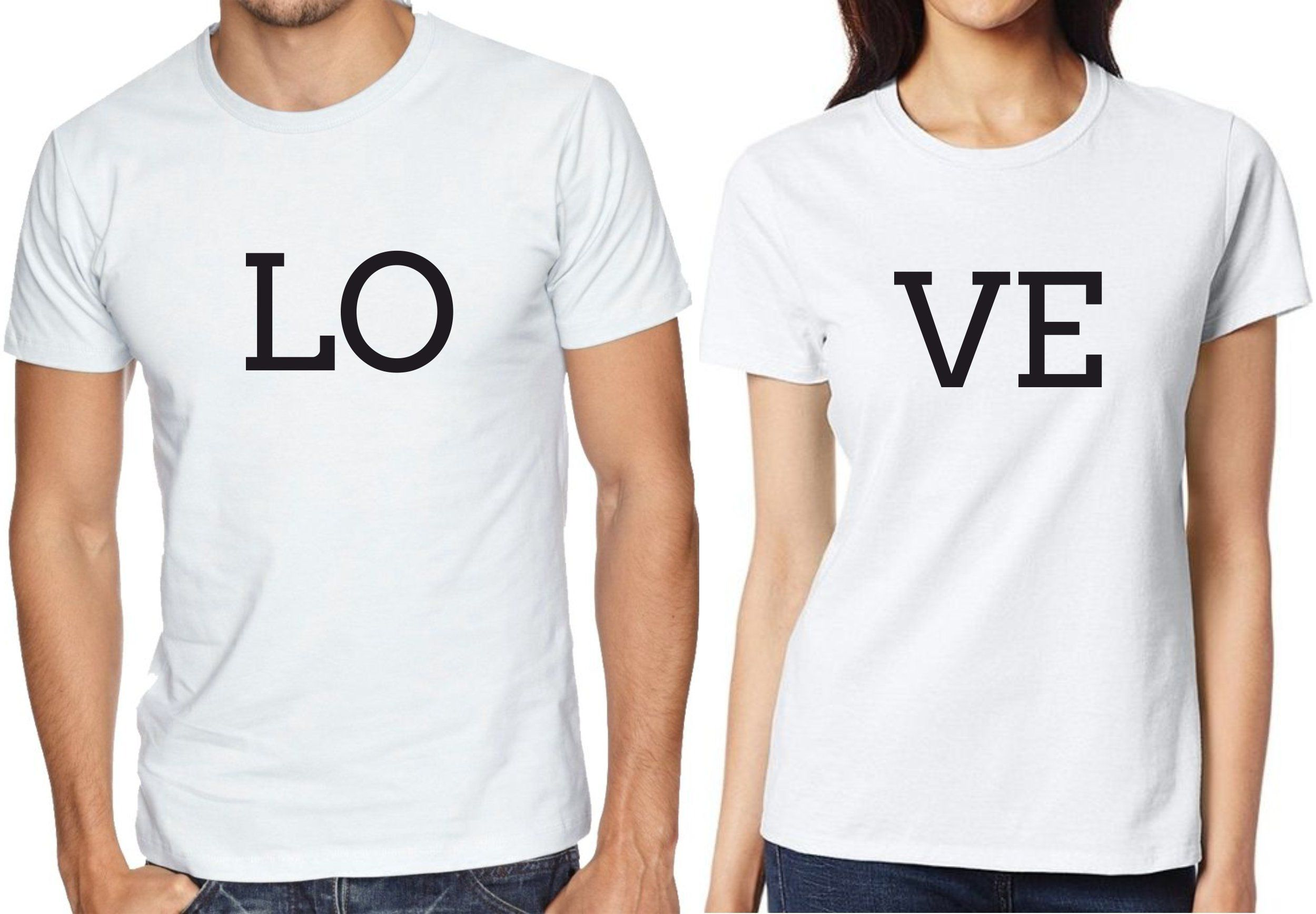 Love For Lovers T-shirt Matching Couple Shirts Anniversary Gift Men's Women's Tee Gift For Lover