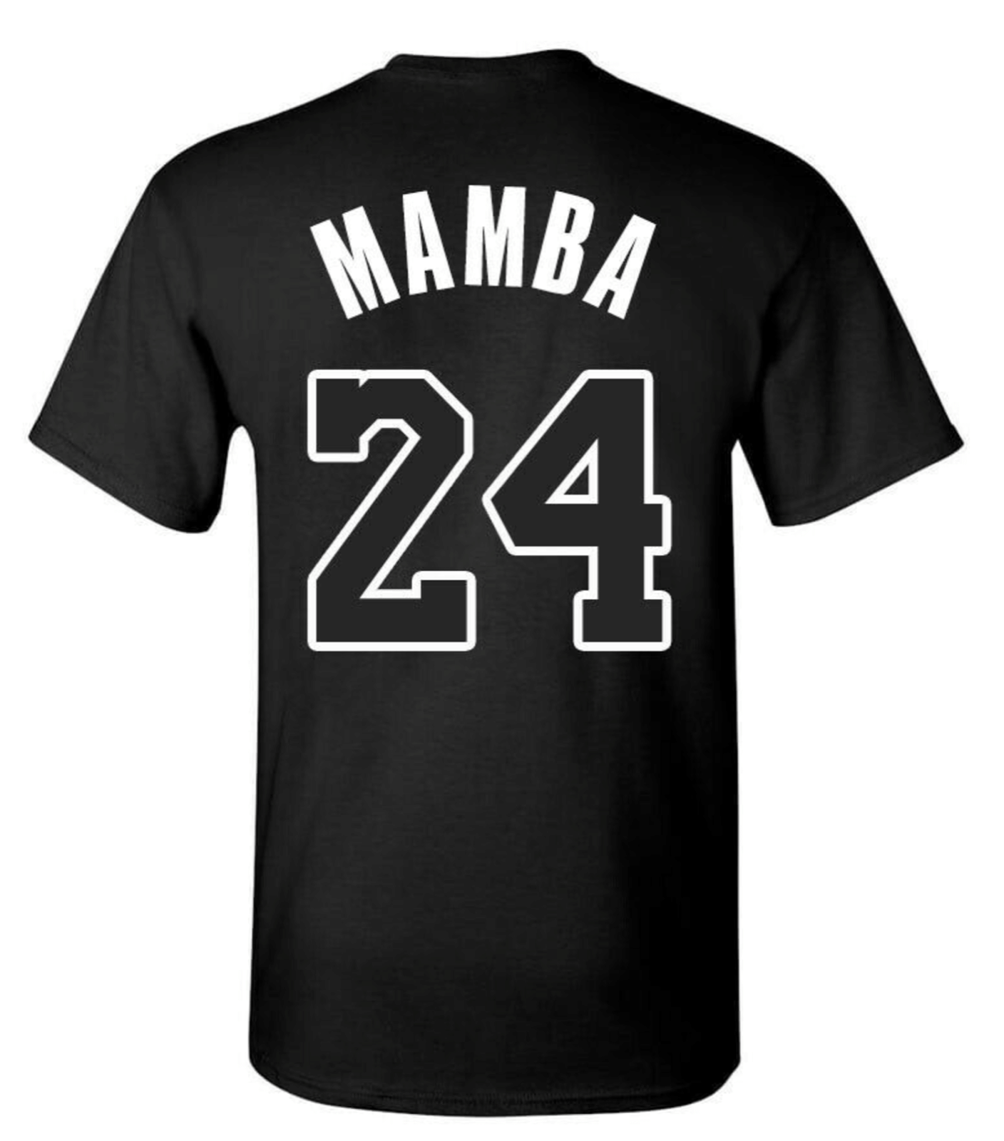 MAMBA LA Lakers KOBE BRYANT T-SHIRT NUMBER Tee Front And Back Print Undefeated